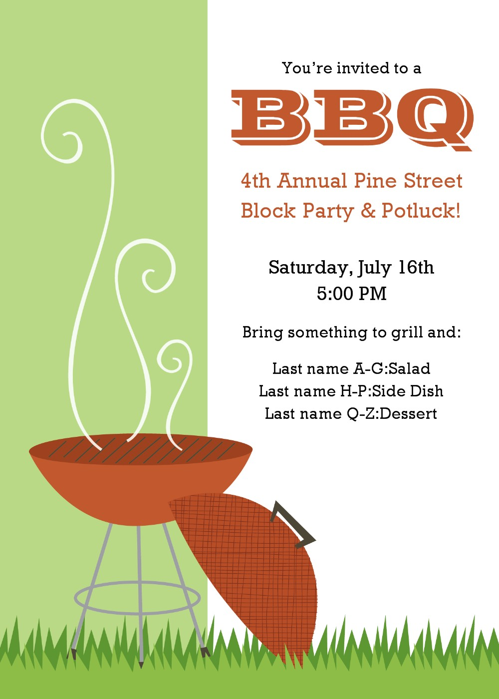 cookout invite template cookout party invitation templates chevron