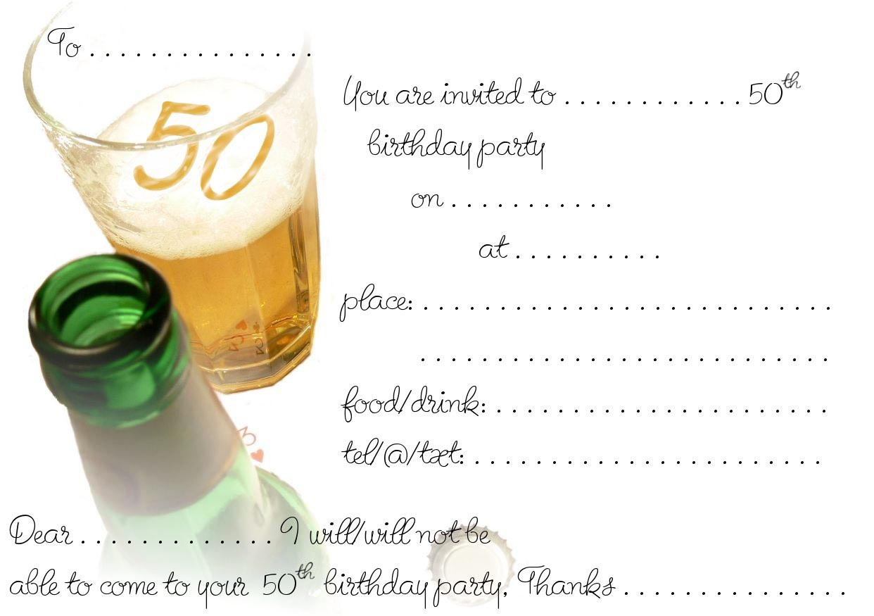 50th birthday template etamemibawa 50th birthday template filmwisefo Image collections