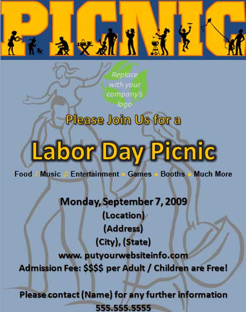 24 Free Picnic Flyer Templates For All Types Of Picnics Editable