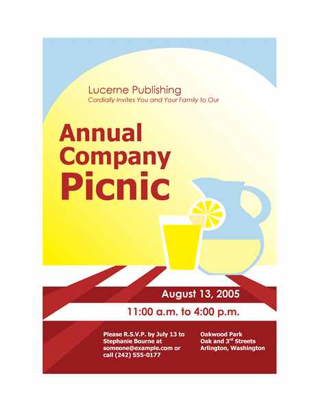 Picnic Flyer Template12