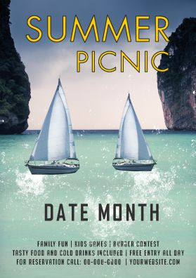Picnic banner Template 1
