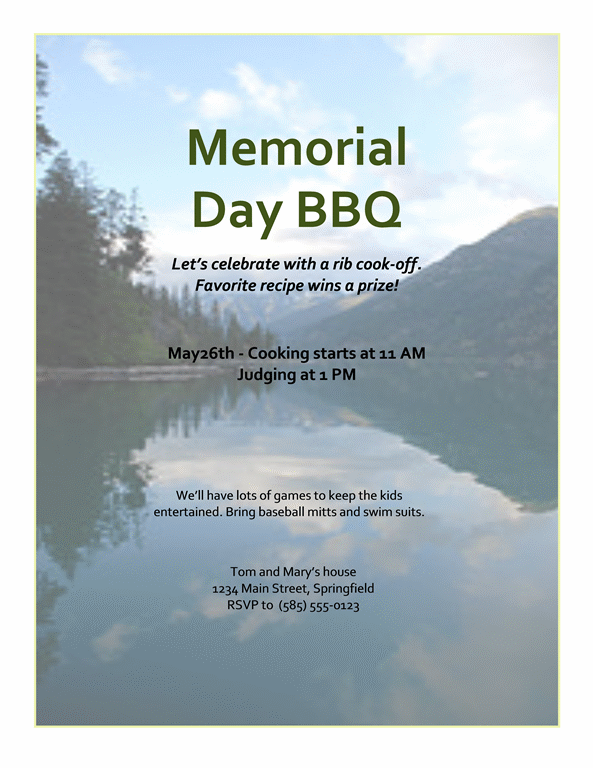 barbeque picnic template-1