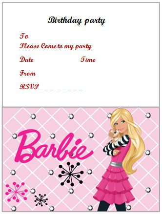 100 free birthday invitation templates you will love these demplates free barbie birthday invitation word filmwisefo