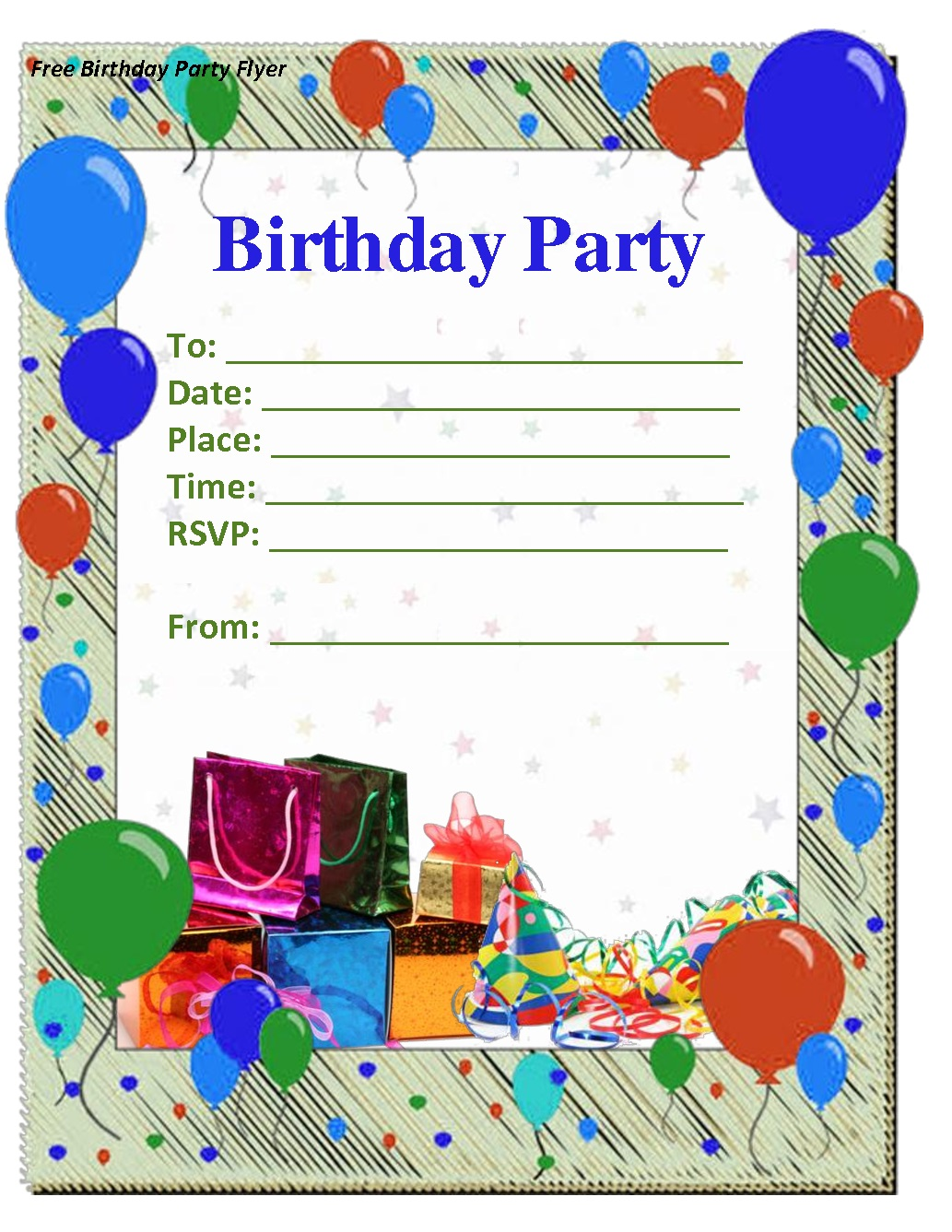 birthday invitation template 28 images free printable birthday – Template for Birthday Invitations