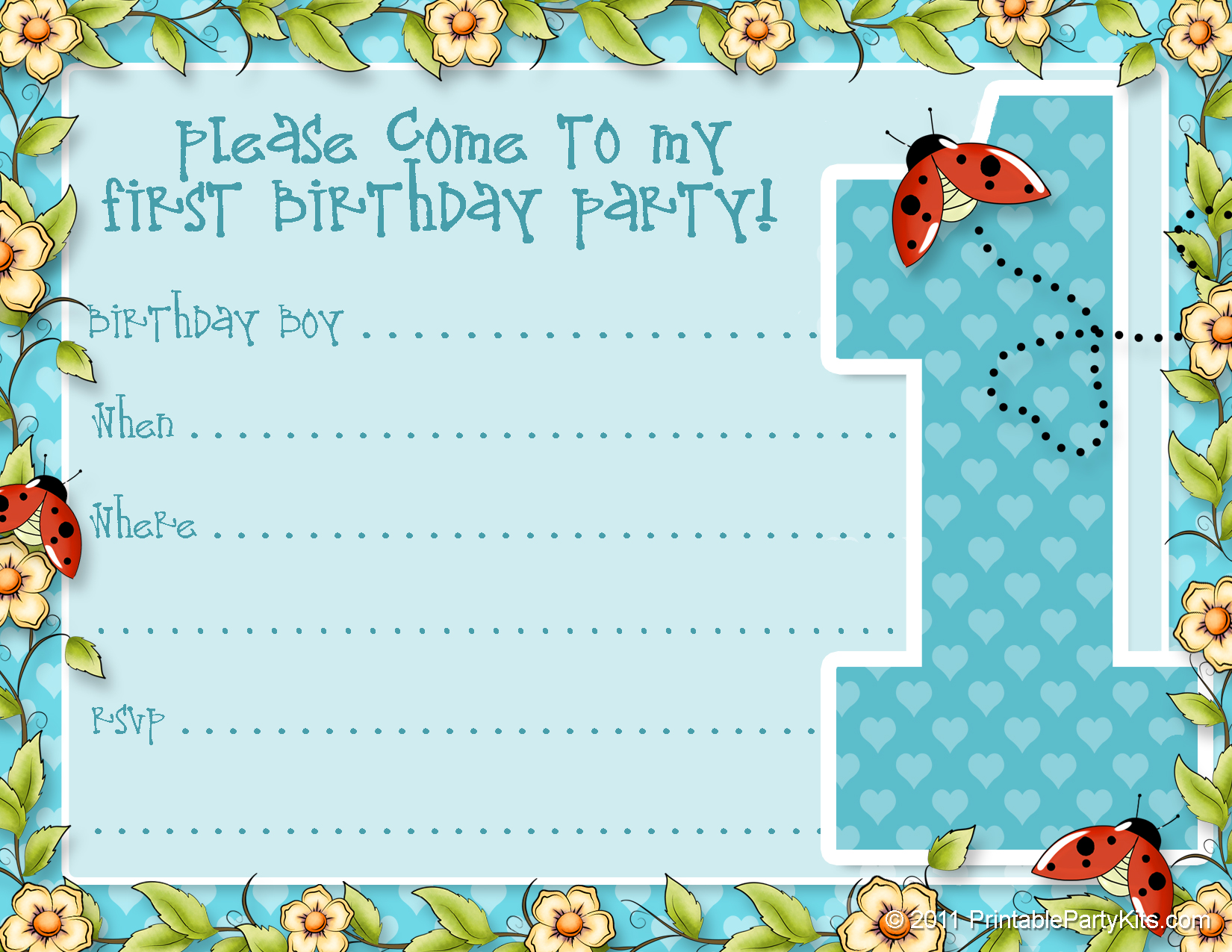 50 Free Birthday Invitation Templates – You Will Love These – Demplates