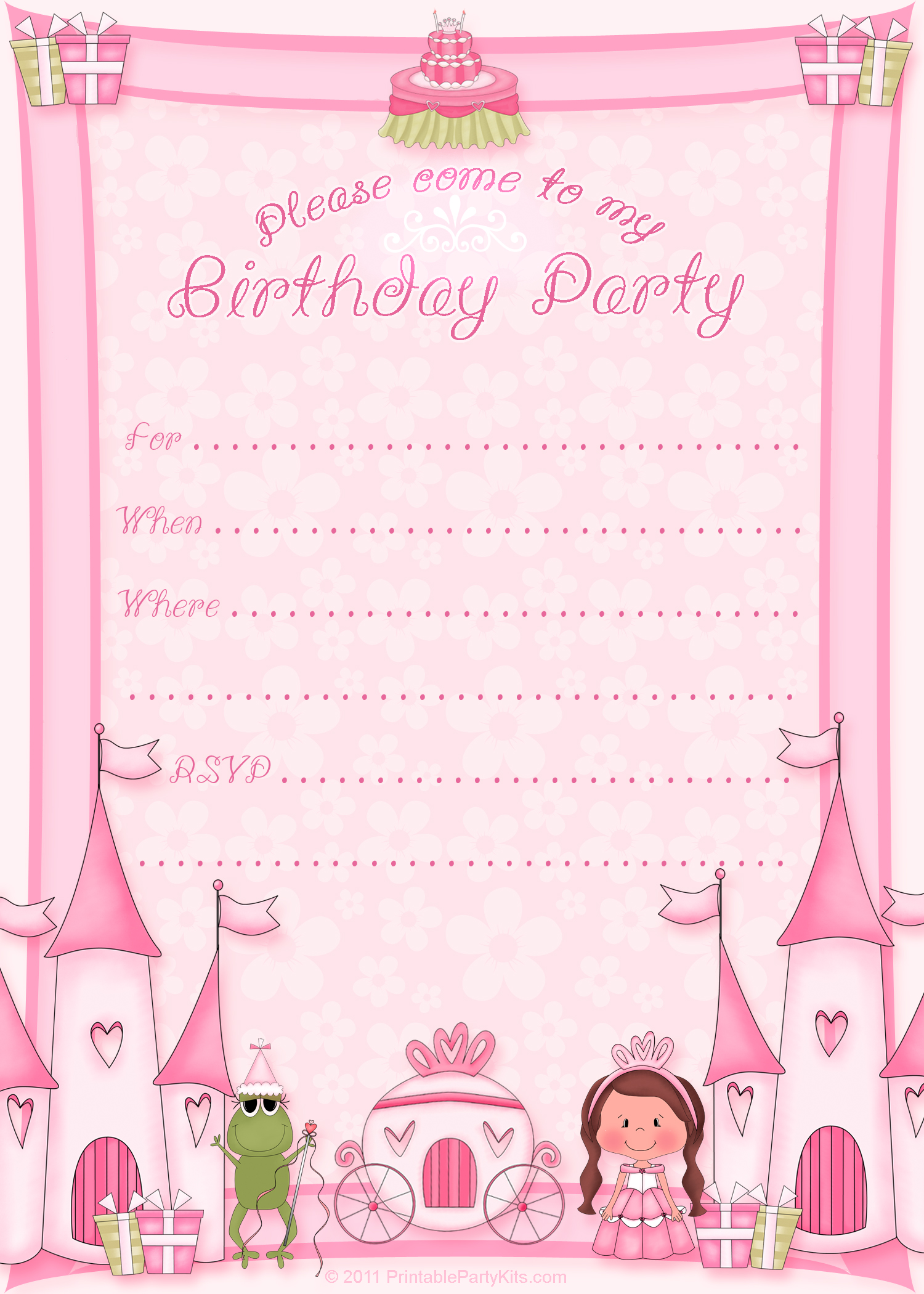 free birthday template invitations