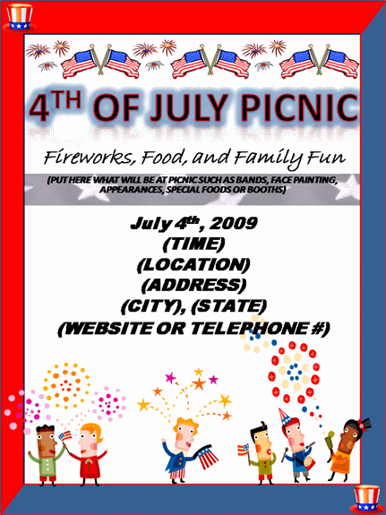 pICNIC fLYER tEMPLATE 15