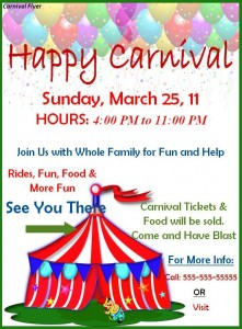 free carnival flyer template word