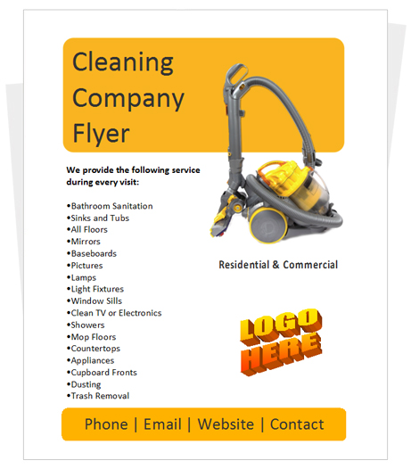 cleaning brochure templates free - 25 free business flyer templates to suit your business