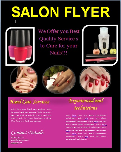 nail brochure templates free - 25 free business flyer templates to suit your business