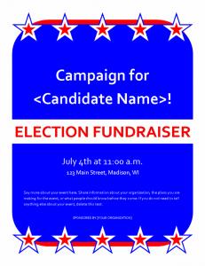 Free fundraiser flyer template1