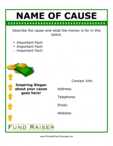 Free fundraiser flyer template2