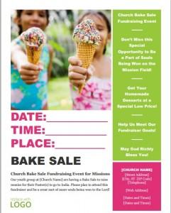 Free fundraiser flyer template6