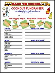 Free fundraiser flyer template7