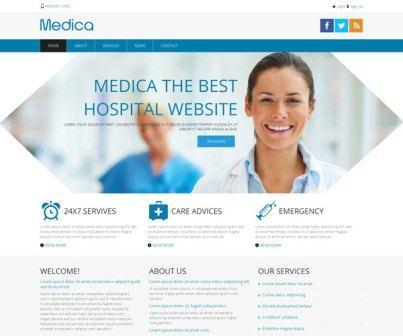 Professional Medical Website Templates Demplates - Medical website templates