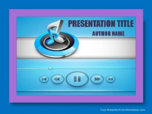 Music symbols PowerPoint Template1