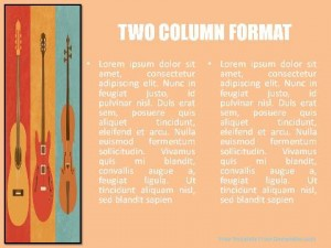 Musical Instruments PowerPoint Template2