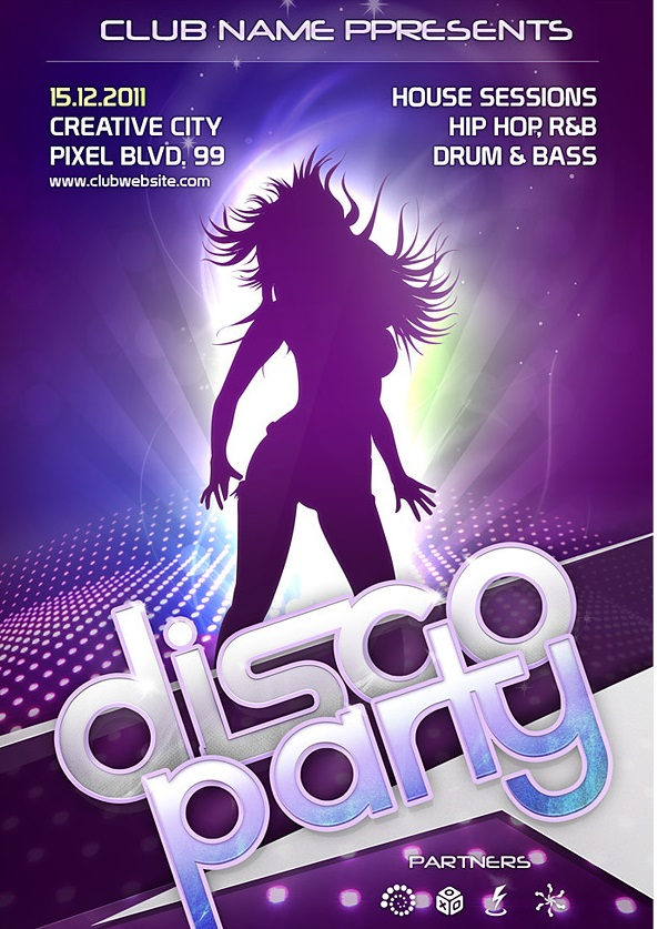 Free Powerpoint Template For Dancing Flyer Dolapgnetband