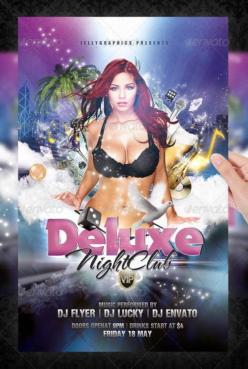 12 Free Awesome NightClub Flyers - Demplates