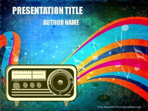 Radio powerpoint template demplates radio powerpoint template1 toneelgroepblik Image collections