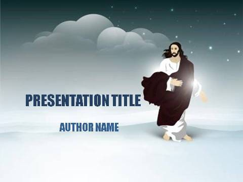 Resurrection Of Jesus Powerpoint Template Demplates