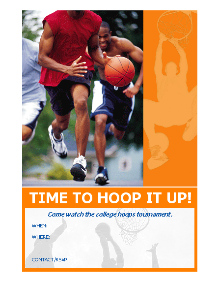 20 best free sports flyer templates demplates for Basketball flyer template free