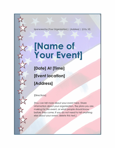 free 4th of july flyer