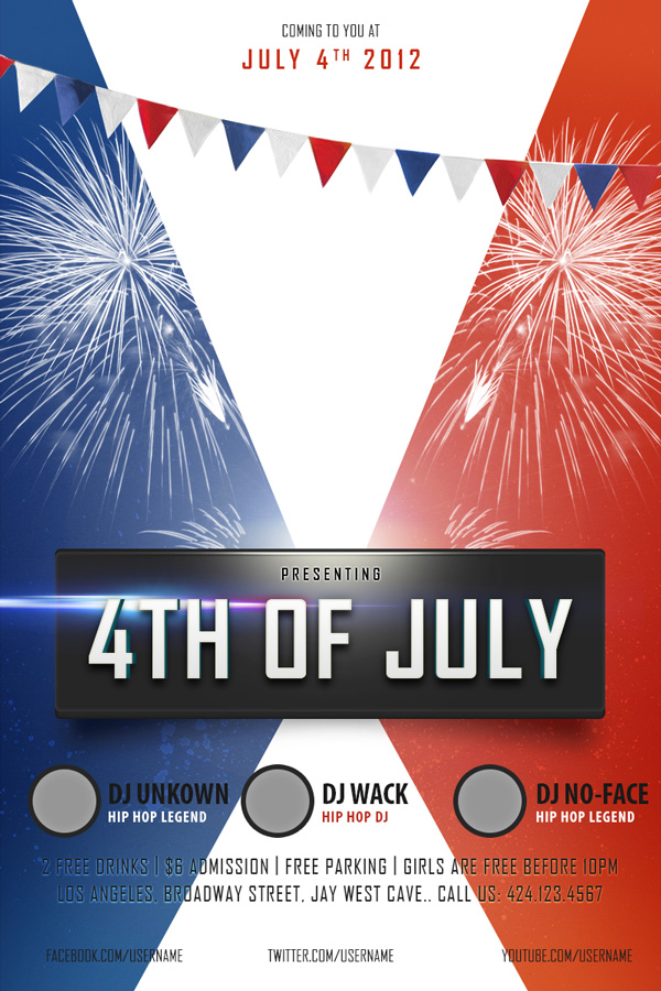 free 4th of july flyer templates koni polycode co