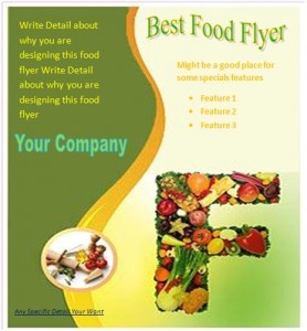 20 free food flyer templates demplates for Free food brochure templates