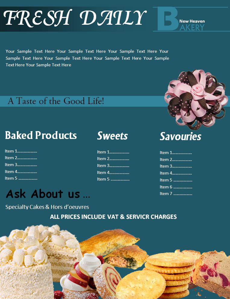 Bakery Flyer Templates