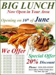sample flyers for food business