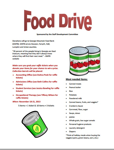 Flyer Can Food Drive