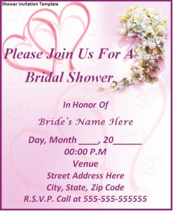 Printable Wedding Flyer Templates - Beach theme bridal shower invitation template