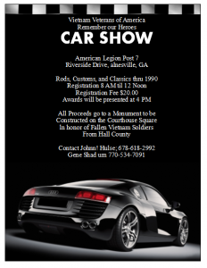 free car show flyer1