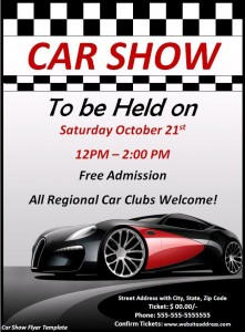 Car Show Flyers High On Adrenaline Demplates - Blank car show flyer