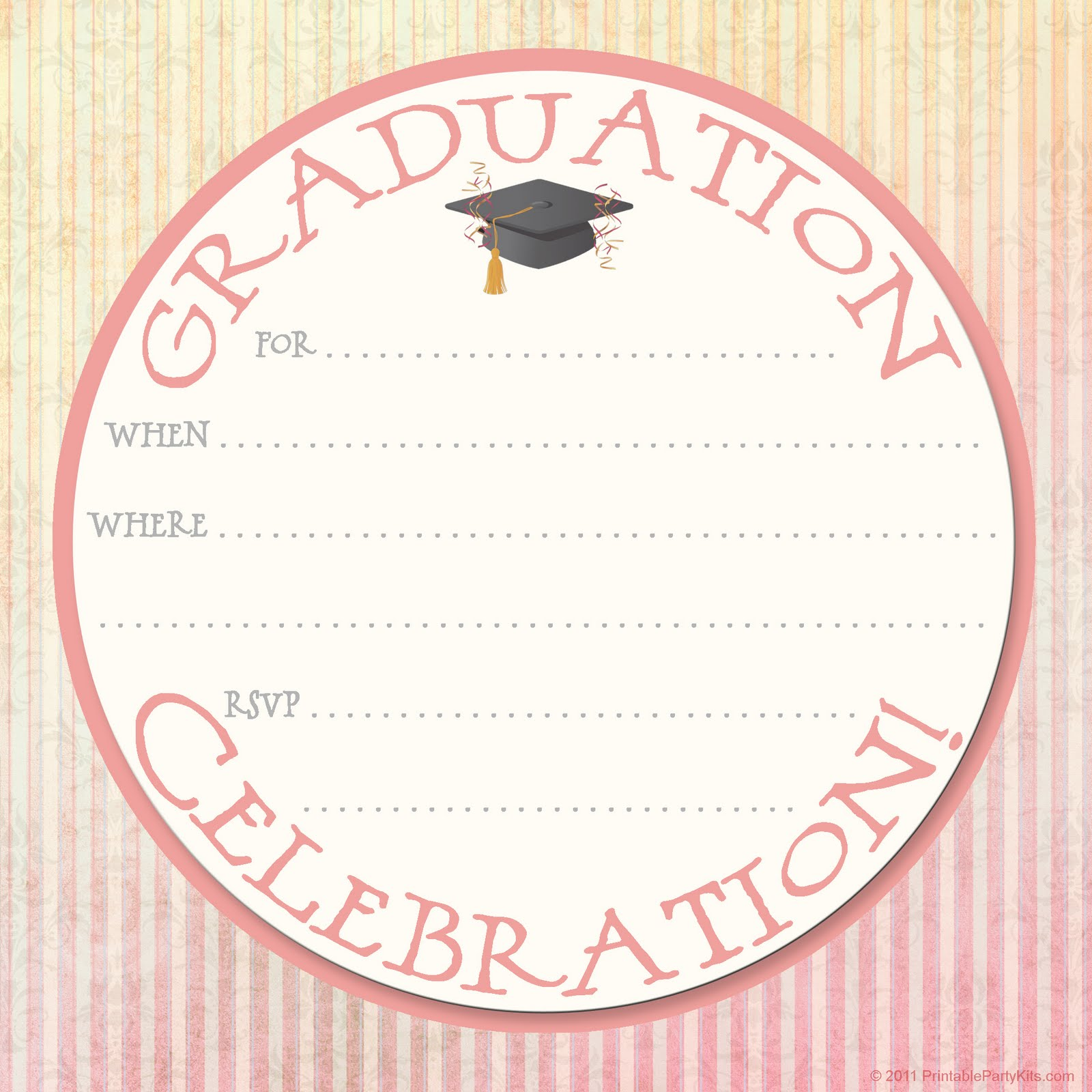 Elegant Graduation Party Invitations with best invitation layout