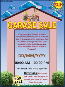 free yard sale 2 flyer