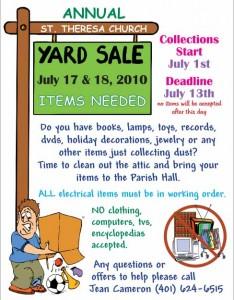 free yard sale12 flyer