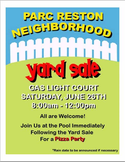 yard sale template word
