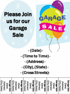 free yard sale3 flyer