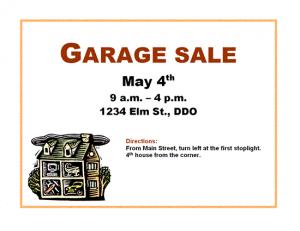 free yard sale4 flyer