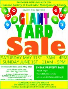 free yard sale7 flyer
