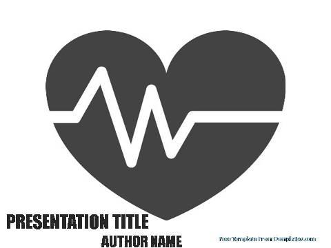 Heart beat powerpoint template demplates free cardiology powerpoint template75 toneelgroepblik Choice Image