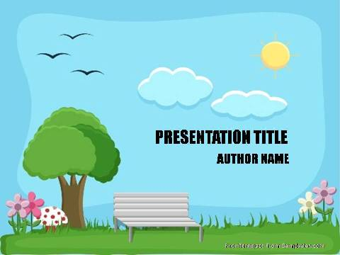 Parks powerpoint template demplates free nature powerpoint template 511 a toneelgroepblik Image collections