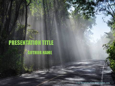 Forest powerpoint template demplates free nature powerpoint template 513 a toneelgroepblik Images