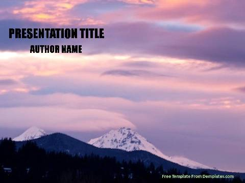 Mountains powerpoint template demplates free nature powerpoint template 521 a toneelgroepblik Gallery