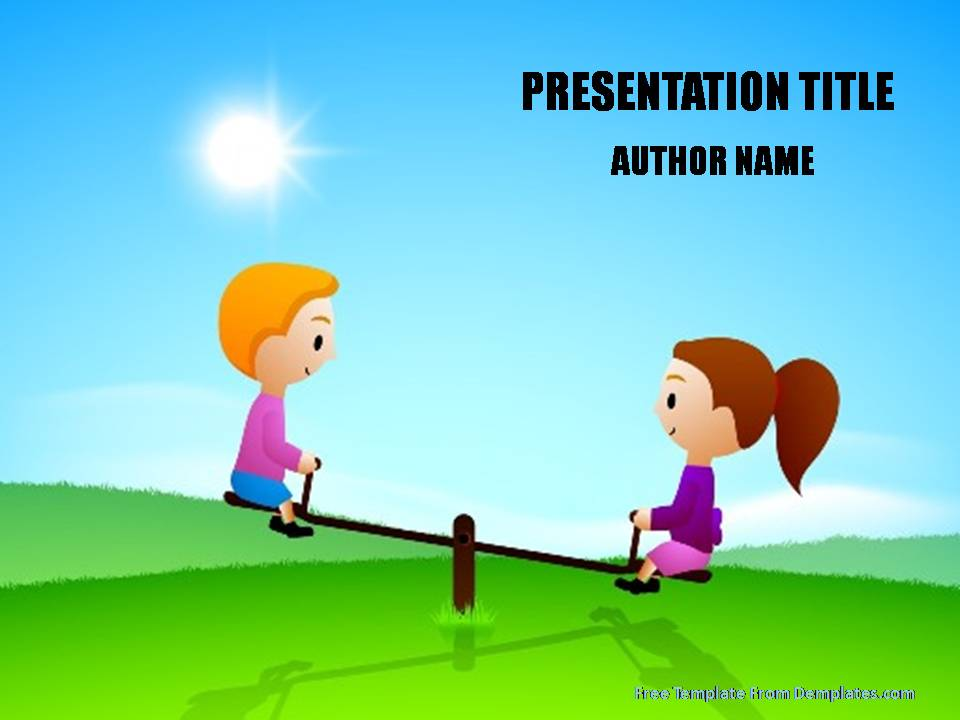 Games For Preschoolers Powerpoint Template Demplates