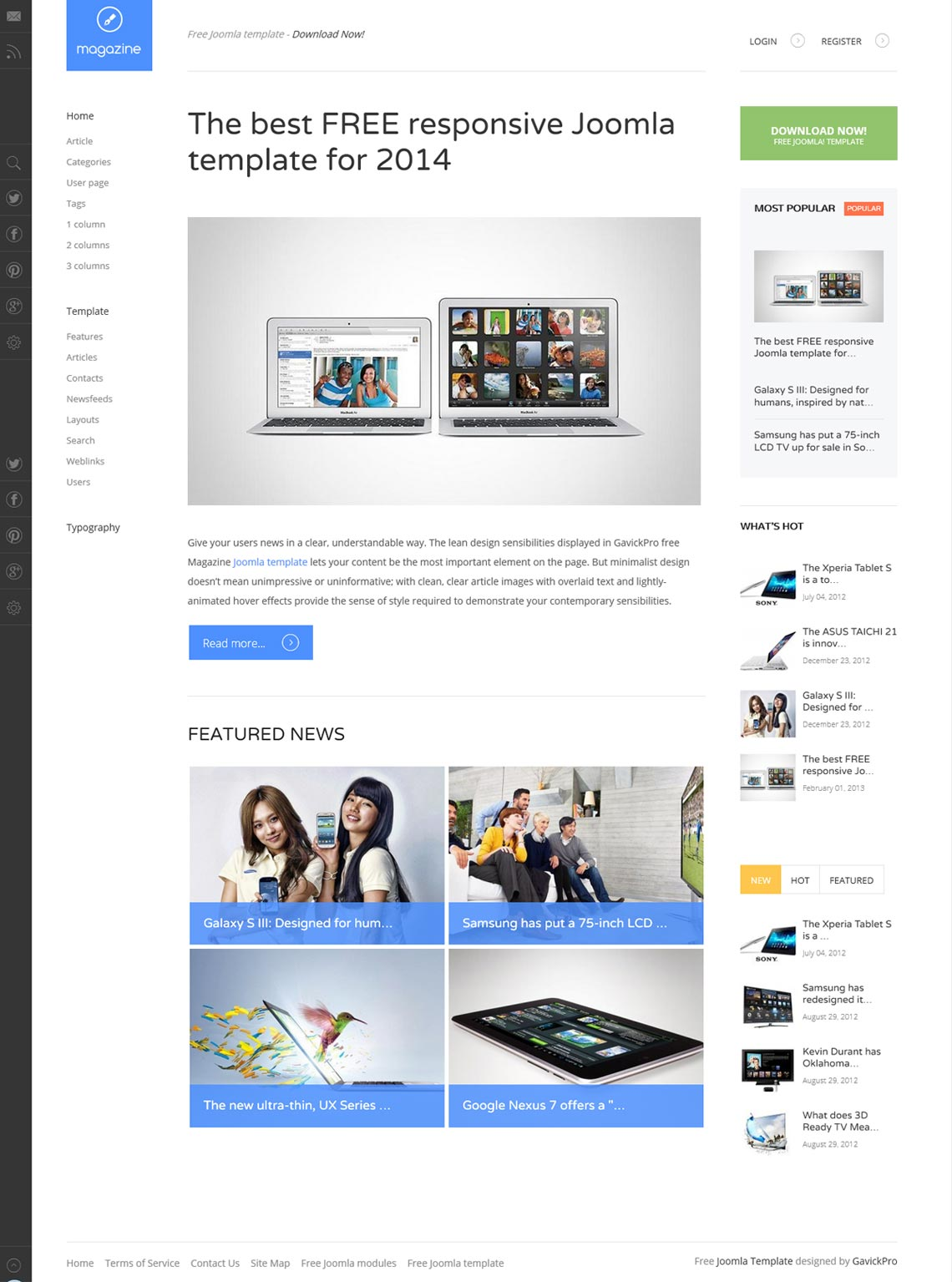 12 beautiful joomla 3 2 responsive templates free to use for Joomla empty template