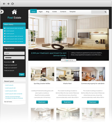 free joomla real estate template10