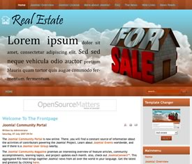 free joomla real estate template13